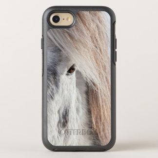 White Icelandic Horse face, Iceland OtterBox Symmetry iPhone 8/7 Case