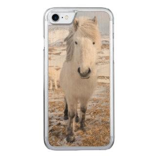 White Icelandic Horse, Iceland Carved iPhone 7 Case