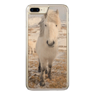 White Icelandic Horse, Iceland Carved iPhone 8 Plus/7 Plus Case