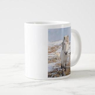White Icelandic Horse, Iceland Large Coffee Mug