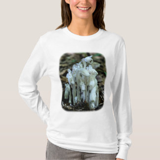 White Indian Pipes Floral Nature T-Shirt