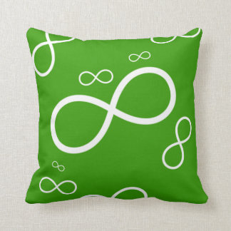 White Infinity on green background | Cool Pillow