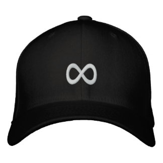 White Infinity Symbol Embroidered Hat