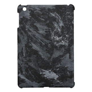 White Ink on Black #2 Case For The iPad Mini