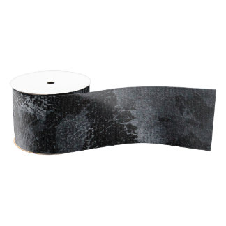 White Ink on Black #2 Grosgrain Ribbon