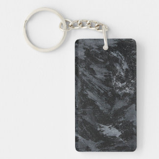 White Ink on Black #2 Keychain