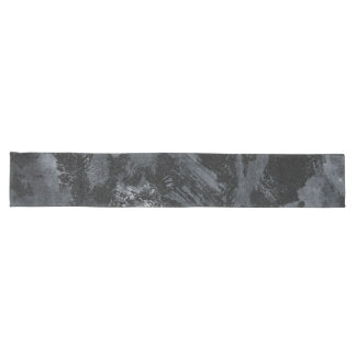 White Ink on Black #2 Long Table Runner