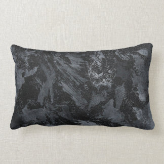 White Ink on Black #2 Lumbar Pillow