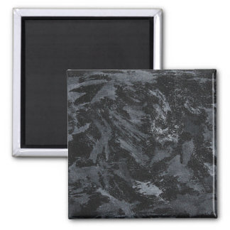 White Ink on Black #2 Magnet