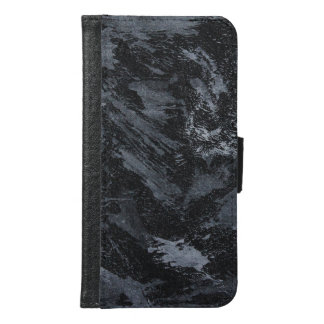 White Ink on Black #2 Samsung Galaxy S6 Wallet Case