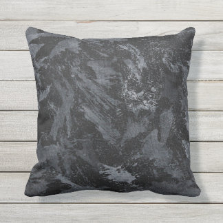 White Ink on Black #2 Throw Pillow