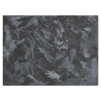 White Ink on Black #2 Tissue Paper