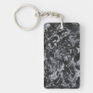 White Ink on Black #4 Keychain