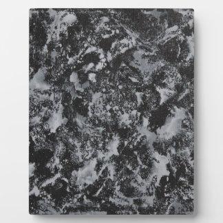 White Ink on Black #4 Plaque