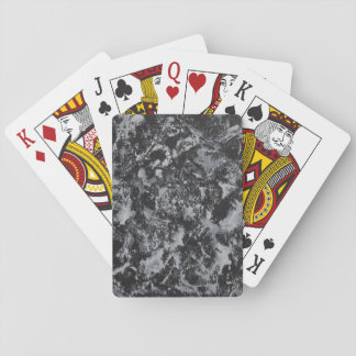White Ink on Black #4 Playing Cards