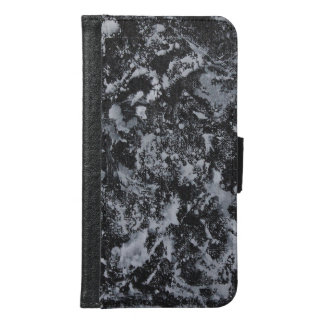 White Ink on Black #4 Samsung Galaxy S6 Wallet Case