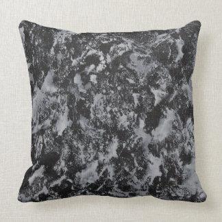White Ink on Black #4 Throw Pillow