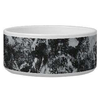 White Ink on Black Background #1 Dog Water Bowl