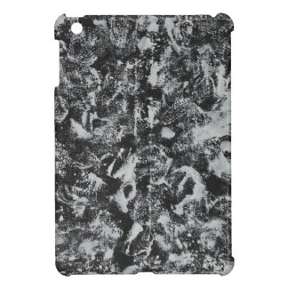 White Ink on Black Background #1 iPad Mini Cover