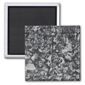 White Ink on Black Background #1 Magnet