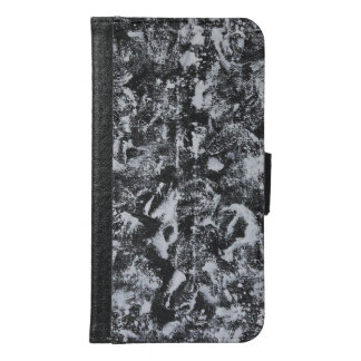 White Ink on Black Background #1 Samsung Galaxy S6 Wallet Case
