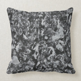 White Ink on Black Background #1 Throw Pillow