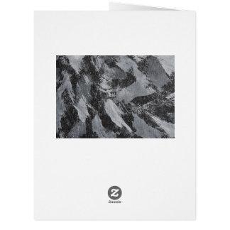 White Ink on Black Background #3 Card