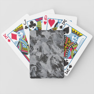 White Ink on Black Background #5 Bicycle Playing Cards