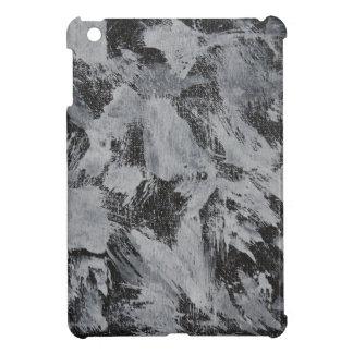 White Ink on Black Background #5 iPad Mini Covers