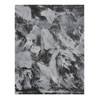 White Ink on Black Background #5 Letterhead