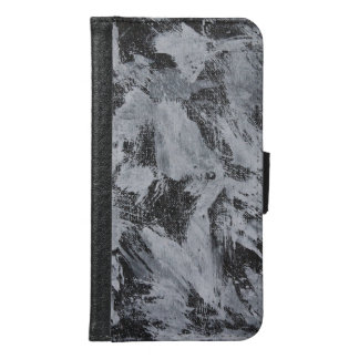 White Ink on Black Background #5 Samsung Galaxy S6 Wallet Case