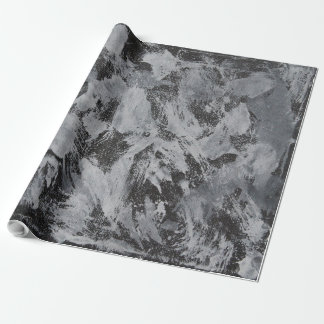 White Ink on Black Background #5 Wrapping Paper