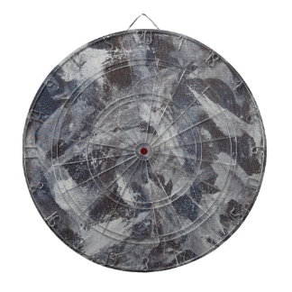 White Ink on Brown and Blue Background Dartboard