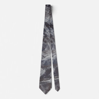 White Ink on Brown and Blue Background Tie