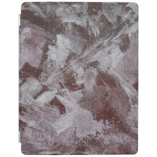 White Ink on Red Background iPad Cover