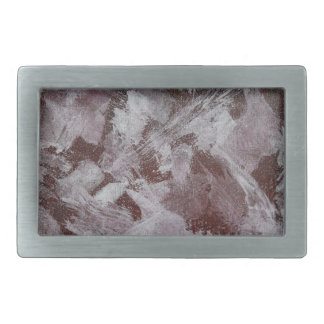 White Ink on Red Background Rectangular Belt Buckle