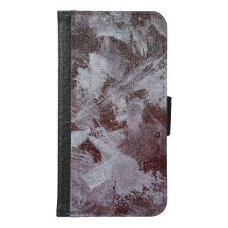 White Ink on Red Background Samsung Galaxy S6 Wallet Case