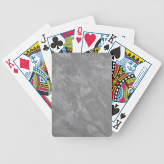 White Ink on Silver Background Bicycle Playing Cards