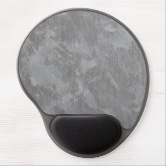 White Ink on Silver Background Gel Mouse Pad