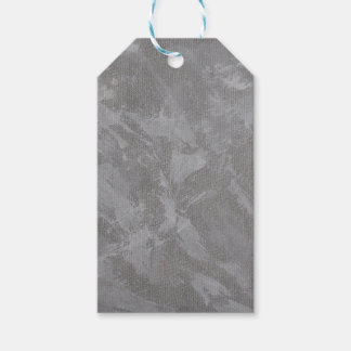 White Ink on Silver Background Gift Tags