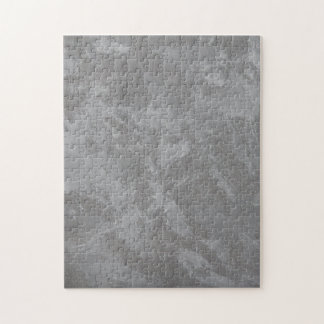 White Ink on Silver Background Jigsaw Puzzle