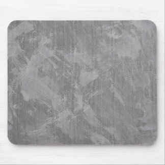 White Ink on Silver Background Mouse Pad