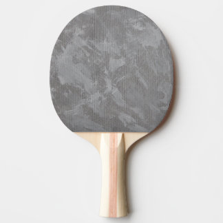 White Ink on Silver Background Ping Pong Paddle