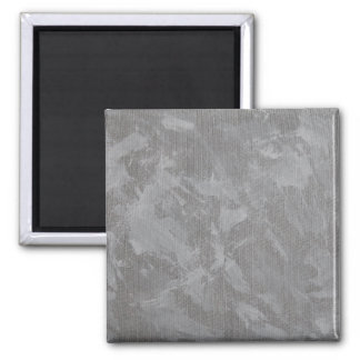White Ink on Silver Background Square Magnet