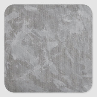White Ink on Silver Background Square Sticker
