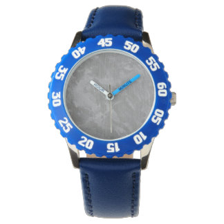 White Ink on Silver Background Wristwatches