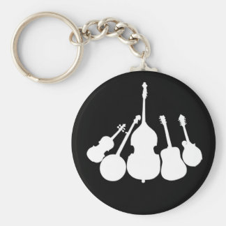 WHITE INSTRUMENTS ON BLACK -KEYCHAIN KEYCHAIN