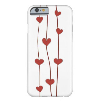 white iphone6 case with red heart hand drawn