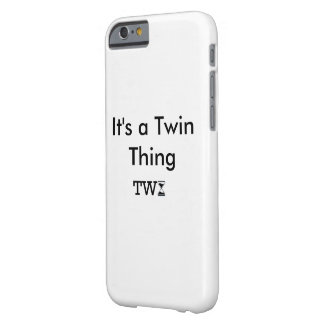 """White iPhone case """"It's a Twin thing"""""""