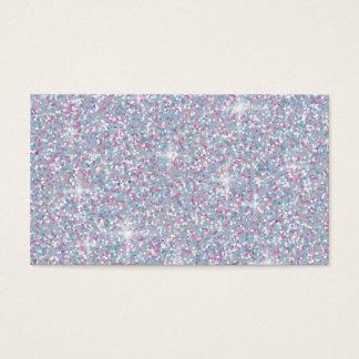 White iridescent glitter business card